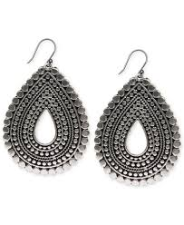 earrings brand lucky brand silver tone tribal teardrop earrings jewelry