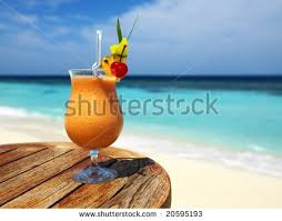glass fruit cocktail sunglasses by beach stock photo 588464741