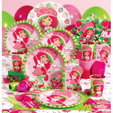 Lots of Strawberry Shortcake birthday party supplies
