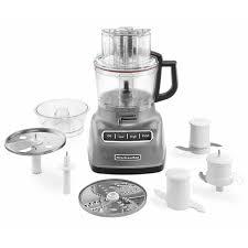 kitchen aid food processor kitchenaid kfp0933cu contour silver 9 cup food processor with