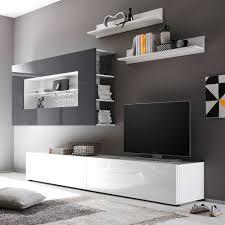 Schrankwand Wohnzimmer Modern Wohnzimmer Grau Weis Haus Design Ideen