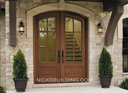 Exterior Doors Wooden Wood Arched Front Door Michigan Arched Top Solid Wood Exterior