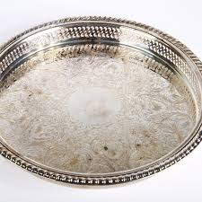 engraved tray w m rogers silverplate engraved tray ebth