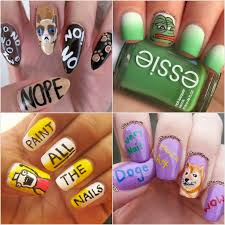Nails Meme - meme nail art ideas popsugar beauty