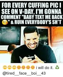 V Day Memes - for every cuffing pici see on v day im gonna comment baby text me