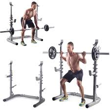 golds gym workout squat rack bench power weight stand lifting home
