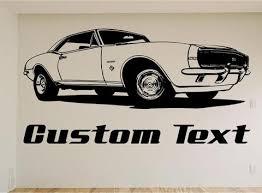 chevy camaro car 1967 chevy camaro car wall decal auto wall mural vinyl