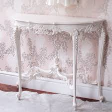 Classic White Bedroom Furniture Provencal Marie Antoinette White Console Table White Console