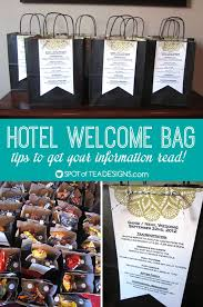 hotel gift bags for wedding guests hotel welcome bags tips to get your information read bag