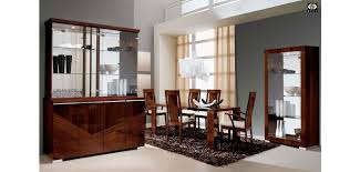 Lacquer Dining Room Sets Brown Lacquer Wood Italian Dining Room Set