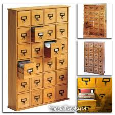 Library Catalog Cabinet Multimedia Storage Cabinet Library Card Catalog Sewing Apothecary