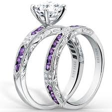 white gold and purple wedding kirk kara purple amethyst diamond engagement ring
