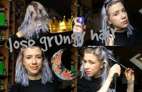 loose grunge hair tutorial youtube