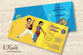 Unique Indian Wedding Cards This Design Is Always Close To Our Heart Caricature Tambrahm And