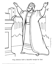 Coloring Page For King Solomon | king solomon bible page to color 019