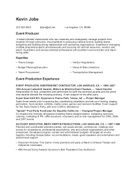 Production Resume Template Resume Talent Buyer