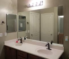 bathroom mirror trim ideas home designs frameless bathroom mirror framing a bathroom mirror