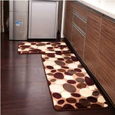 ustide 2 coffee flower kitchen rug set soft rug coral