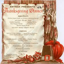 thanksgiving dinner menu 1970s amtrak history of america s railroad