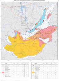 Isoline Map 121 Rare Animals Distribution Birds Falconiformes Strigiformes