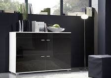 Black Contemporary Sideboard Black Contemporary Sideboards With Flat Pack Ebay