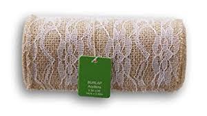 burlap and lace ribbon burlap and lace ribbon roll 5 5 x 8