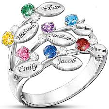 mothers ring with birthstones birthstone ring for sterling silver mothers rings 15