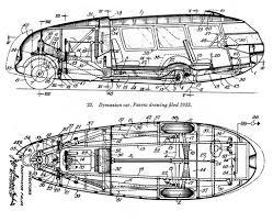 dymaxion car patent by buckminster fuller diagrammatic