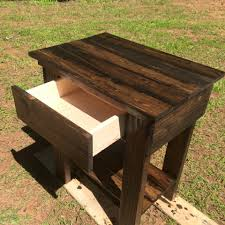Patio Furniture Made With Pallets - diy pallet nightstand and side table