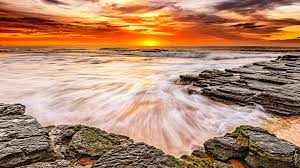 ocean explore wallpapers norway ocean waves rocks sunset wallpaper free download high