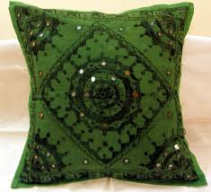 Ethnic Indian Home Decor Embroidered Ethnic Indian Cushion Covers Decorated Toss Pillows