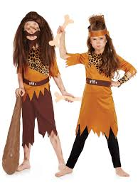 cavewoman halloween costumes childs caveman cavegirl costume boys girls stone age fancy dress