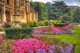 beautiful flower gardens tyntesfield house near wraxall north