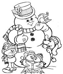 christmas snowman coloring pages to print winter coloring pages