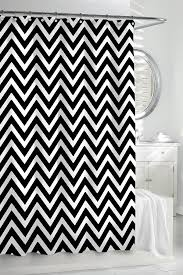 Pink Black And White Shower Curtain Mesmerizing Black Chevron Curtains 116 Black Chevron Curtains Uk