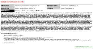 mep manager cover letter u0026 resume