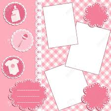 baby girl photo album baby album page royalty free cliparts vectors and stock