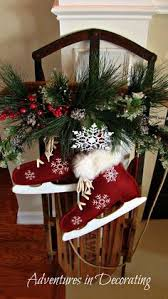Non Christmas Winter Decorations - decorate old sled for the holidays christmas ideas pinterest