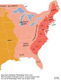North America Map 1700 by Poli 143a War And Society