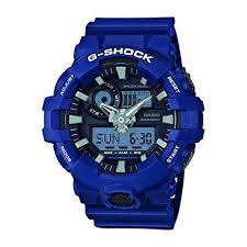 light blue g shock watch casio g shock watch mens analogue digital resin strap 5 alarms led