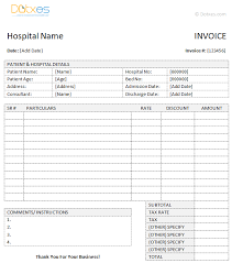 medical invoice template word dotxes
