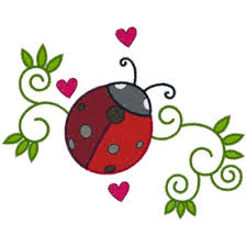 ladybug swirls embroidery designs free machine embroidery
