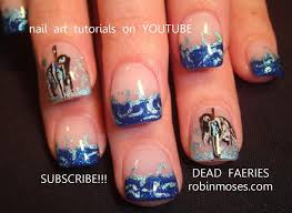 nail art tutorial diy easy halloween nails dead fairies youtube