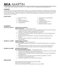 Resume Objective Statements Samples Sample Of An Administrative Assistant Resume Sample Resume