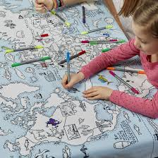 Map Fabric Map Fabric Runner 6ft Table World Throughout World Map Tablecloth