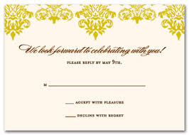 Wedding Reply Cards Bella Moss Rsvp Response Cards Wedding Response Cards 17608