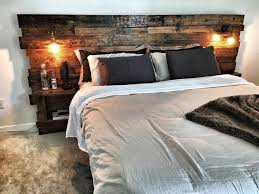 floating headboard ideas custom king size headboard with built in lights and shelving