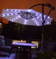Patio Umbrella Lighting Mesmerizing Lighted Umbrella For Patio Awesome With Led Lights