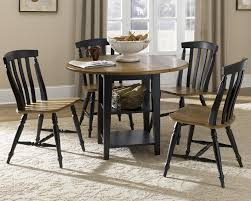 five piece drop leaf table and slat back chairs set by liberty