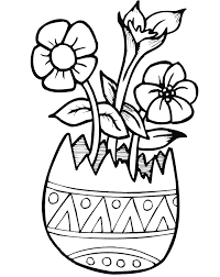 easter flowers coloring pages getcoloringpages